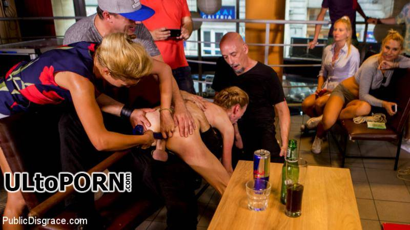 PublicDisgrace.com, Kink.com: Cherry Kiss, Luca Bella, Steve Holmes, RAM - Blonde Czech Slut Gets Fucked In The ASS In Budapest [1.99 GB / HD / 720p] (Humiliation) + Online