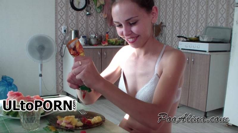 PooAlina.com: Poo Alina - Morning shit of a young Lady in panties [1.65 GB / FullHD / 1080p] (Scat)