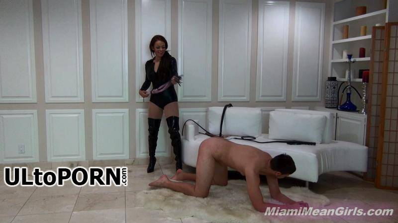 MiamiMeanGirls.com: Princess Carmela - New Slave Learns Pain [822 MB / FullHD / 1080p] (Femdom)