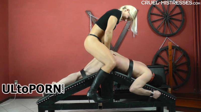CruelAmazons.com, Cruel-Mistresses.com, Cruel-Strapon.com: Mistress Zita - Giant Cock In His Ass [653 MB / FullHD / 1080p] (Strapon)