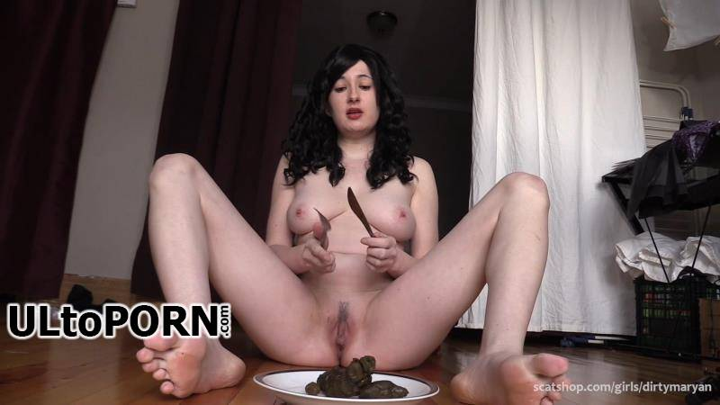 ScatShop.com: DirtyMaryan - Mistress feeds Toilet Slave with her delicious shit [750 MB / FullHD / 1080p] (Scat)