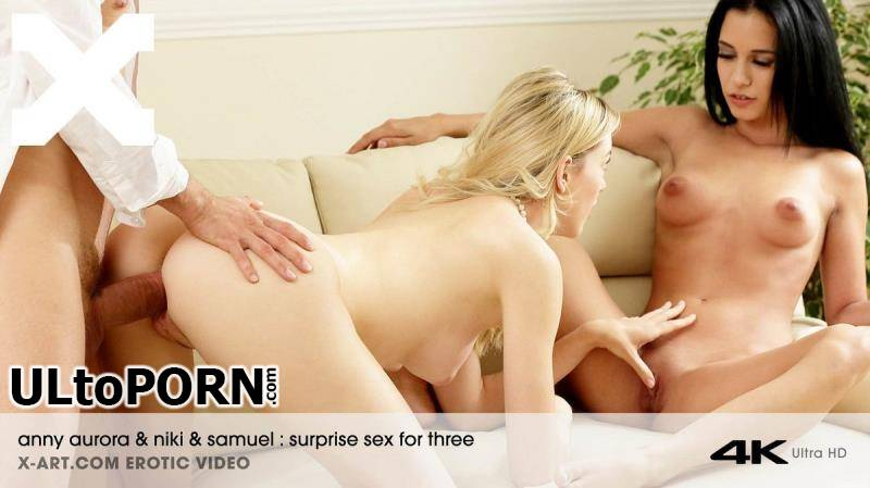 X-Art.com: Nikki Fox, Anny Aurora - Surprise Sex For Three [1.47 GB / FullHD / 1088p] (Threesome)