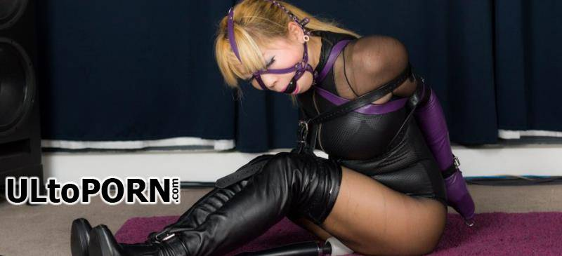 RestrictedSenses.com, clips4sale.com: Mina - Purple Leather Armbinder and Gag [1.04 GB / FullHD / 1080p] (Bondage)