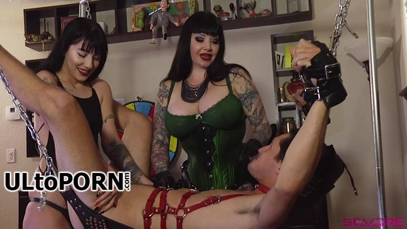 SevereSexFilms.com, Kink.com: Dommes play Wheel of Fortune (misfortune) with their Slave's Holes [915 MB / HD / 720p] (Strapon)