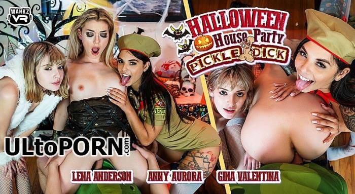 WankzVR.com: Anny Aurora, Gina Valentina, Lena Anderson - Halloween House Party: Pickle-Dick [14.4 GB / UltraHD 4K / 2300p] (Oculus)