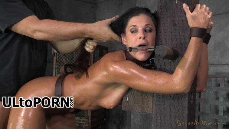 SexuallyBroken.com: India Summer, Matt Williams, Jack Hammer - Stunning MILF India Summer belted down to a post and bred! [828 MB / HD / 720p] (Bondage)