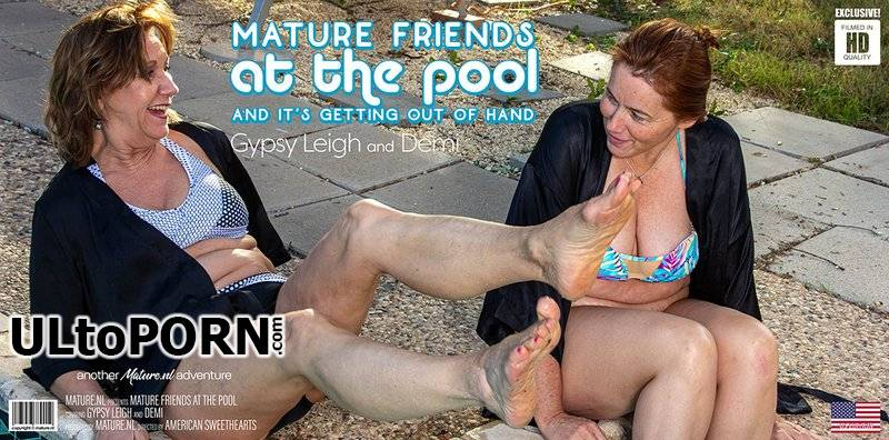 Mature.nl: Demi (61), Gypsy Leigh (48) - Two mature friends at the pool get out of control [2.72 GB / FullHD / 1080p] (Lesbian)