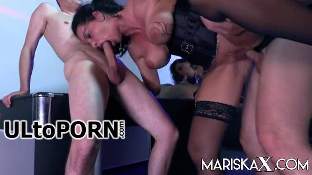 Dacada - Olga takes 2 cocks in her pussy during a creampie gangbang with milf Dacada (SD/360p/150 MB)